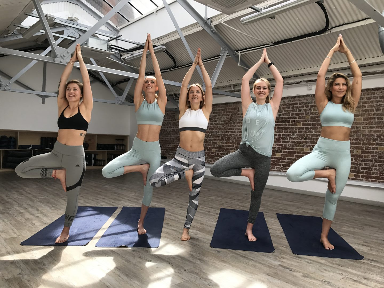Women doing yoga in an open space, adidas Womens Studio London-yoga-class, adidas, GamePlan A, career, dream job