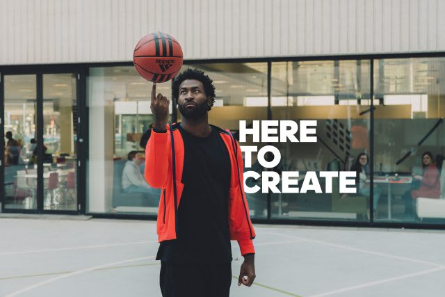 Man spinning a basketball on his finger. adidas, HereToCreate, Basketball, adidas employee, Digital, IT, Analytics, teamwork, mindset, strategy, adidas employee
