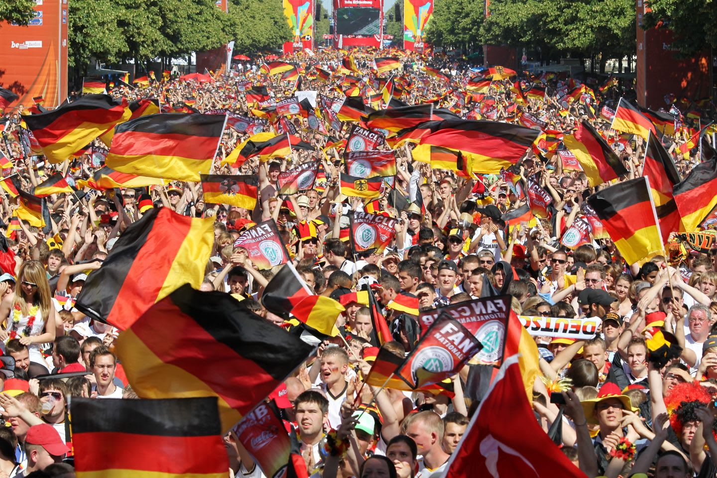 Germany fans watch live viewing in Berlin