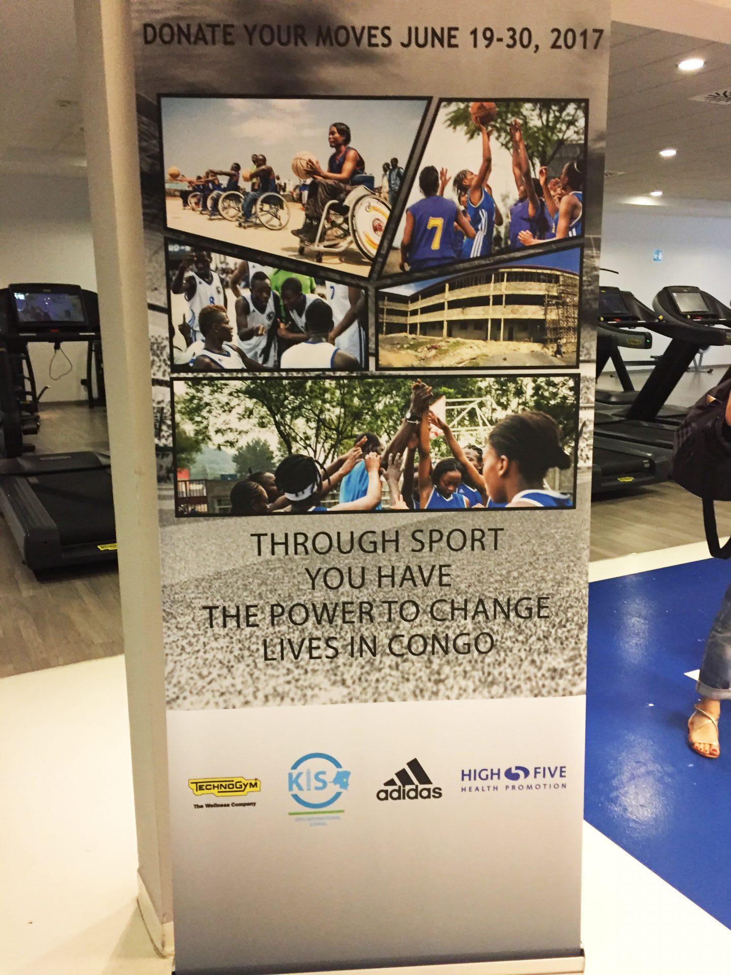 A fundraising poster from adidas. volunteering, adidas, leadership, leadership skills