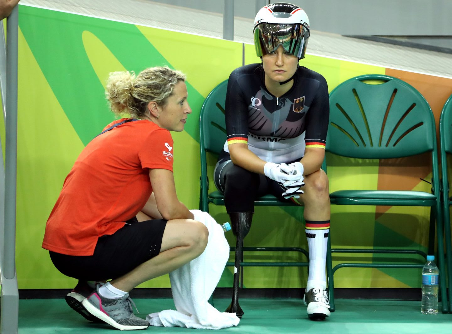 Denise Schindler resting during 2016 Paralympic Games in Rio De Janeiro, Brazil, para-cyclist, paralympian, paralympics, motivation, inspiration, GamePlan A