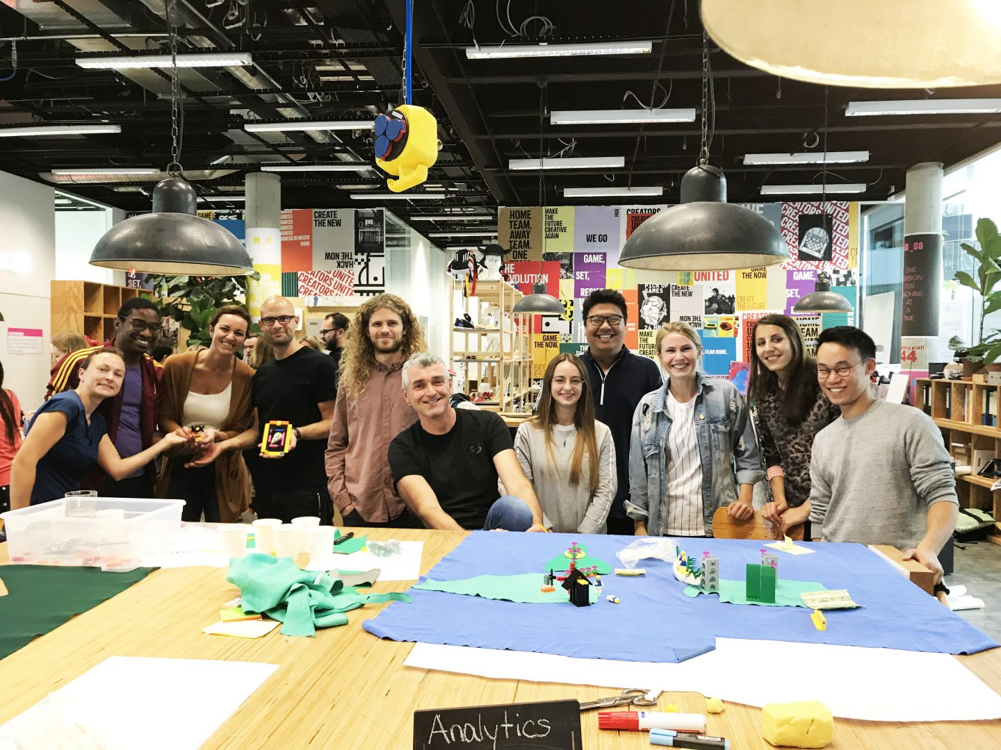 Group of adidas employees in the Makerlab | Principles of Design