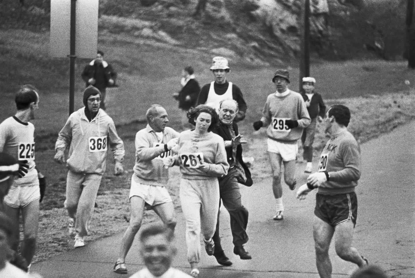 The first women to run the Boston Marathon - Kathrine Switzer | adidas history