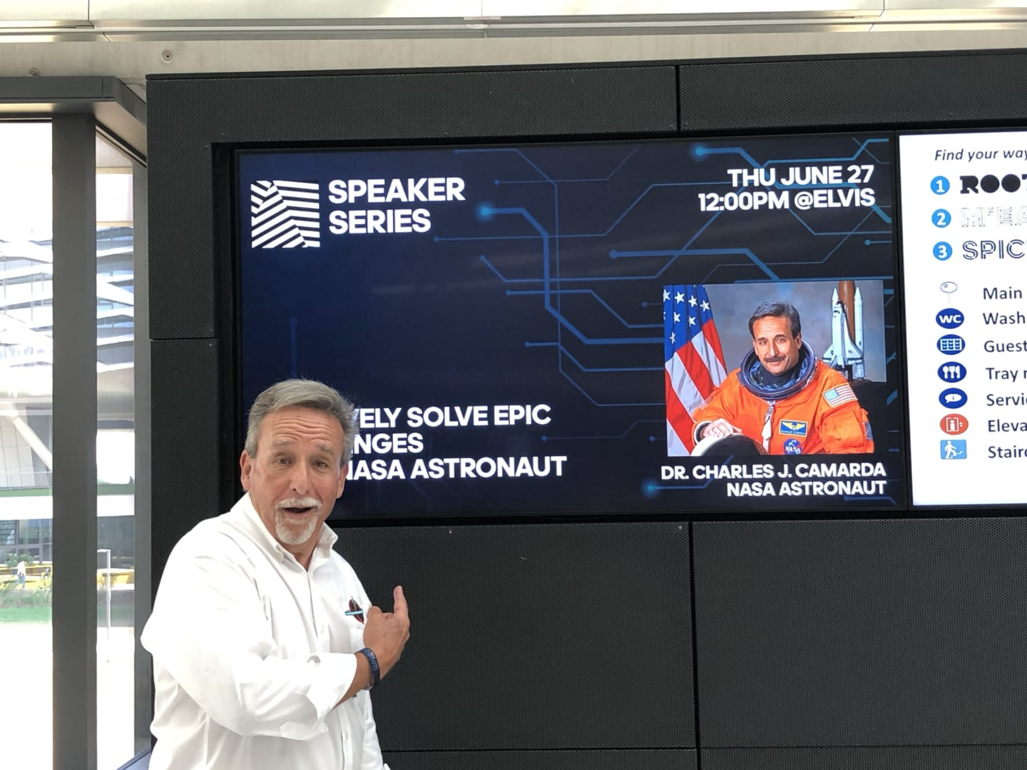 Charlie Camarda NASA Astronaut Photo in conversation at adidas headquarter.diversity, innovation, creativity, team work, GamePlanA