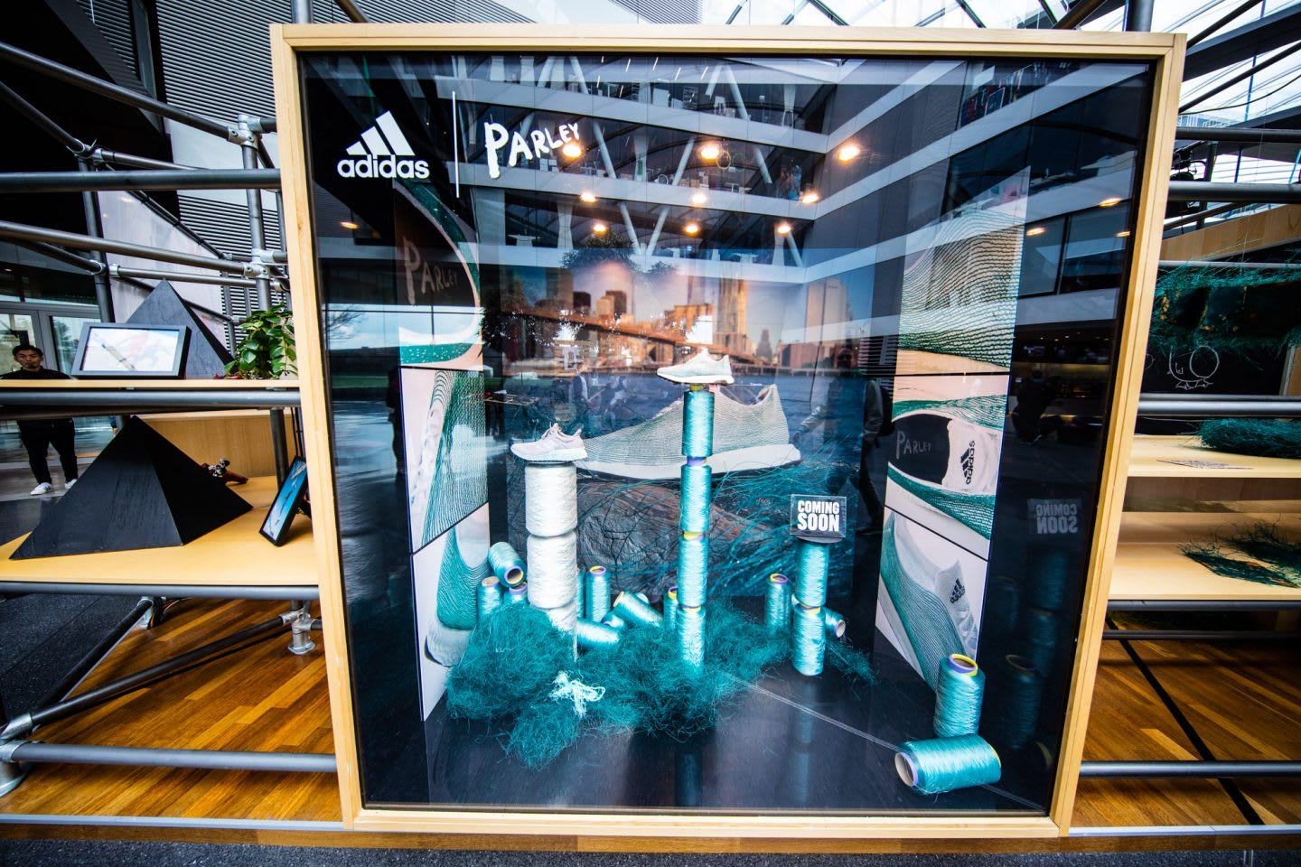 Showcase of adidas Parley shoes. avoid plastic, sustainability, habits and routines, inspiration, GamePlan A.