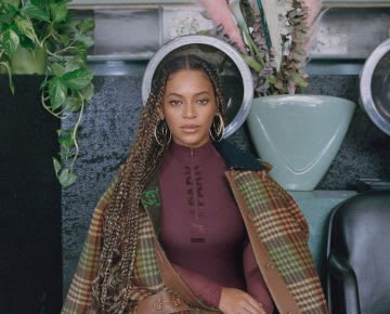 Beyonce posing during a photo shoot