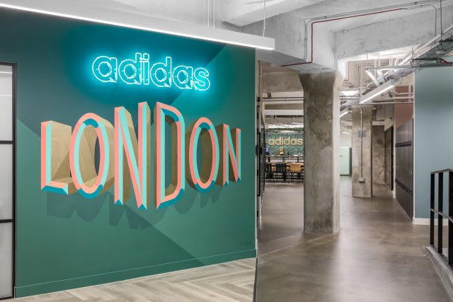 entrance of the adidas London office