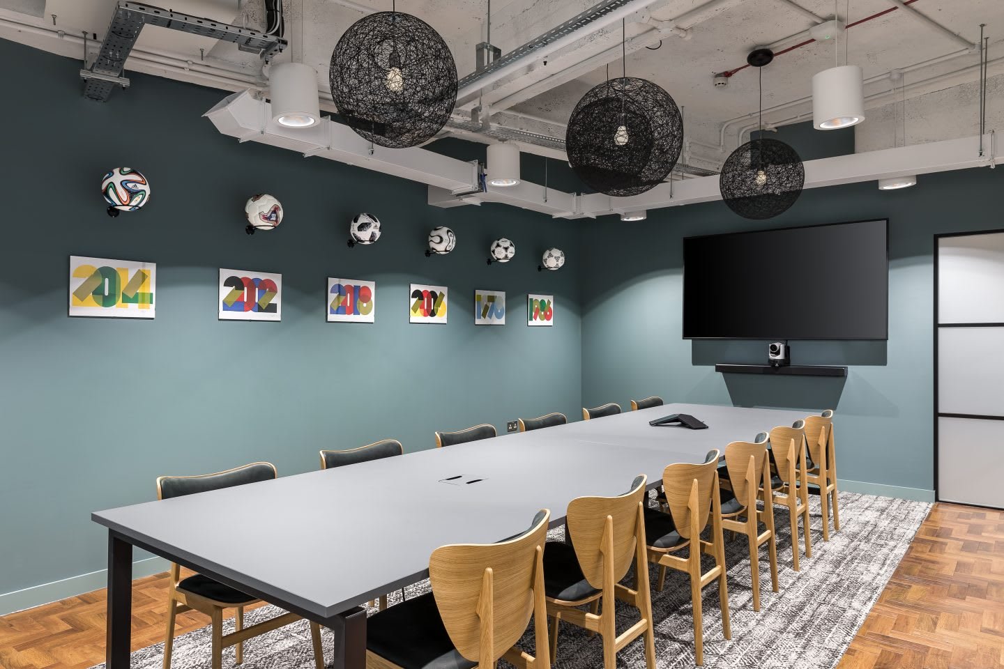 a meeting room at adidas London office, workplaces, adidas company culture collaboration, developing creativity, working in adidas