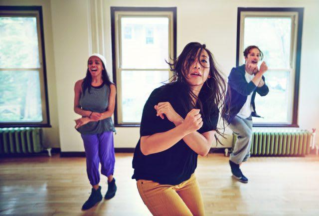three people dancing, mental health
