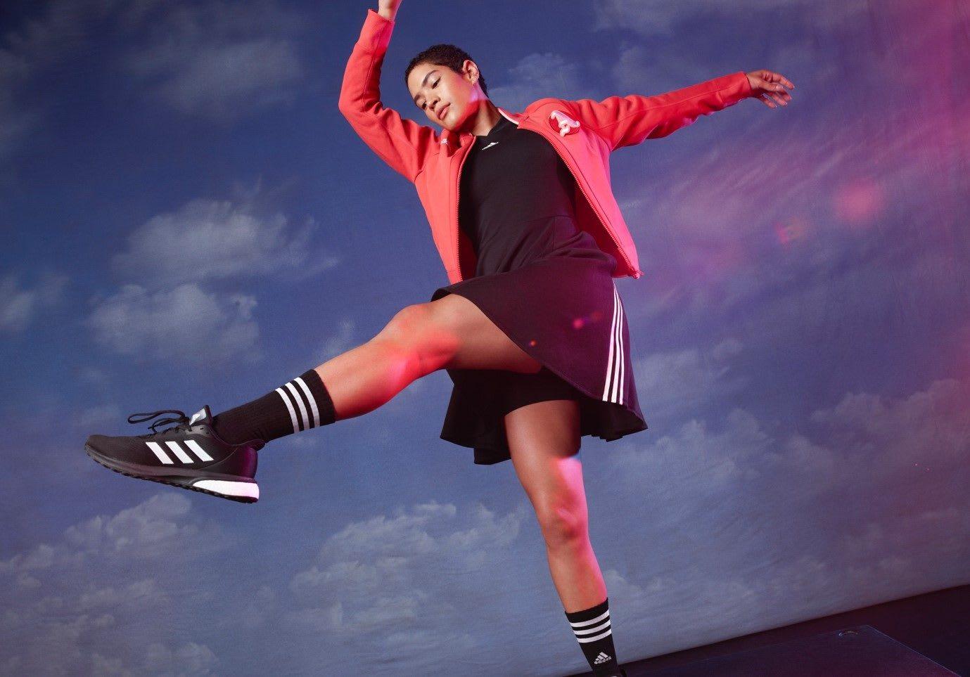 adidas women dances in adidas gear
