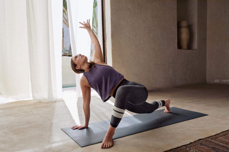 Abi Nolan in a yoga mat. GamePlanA