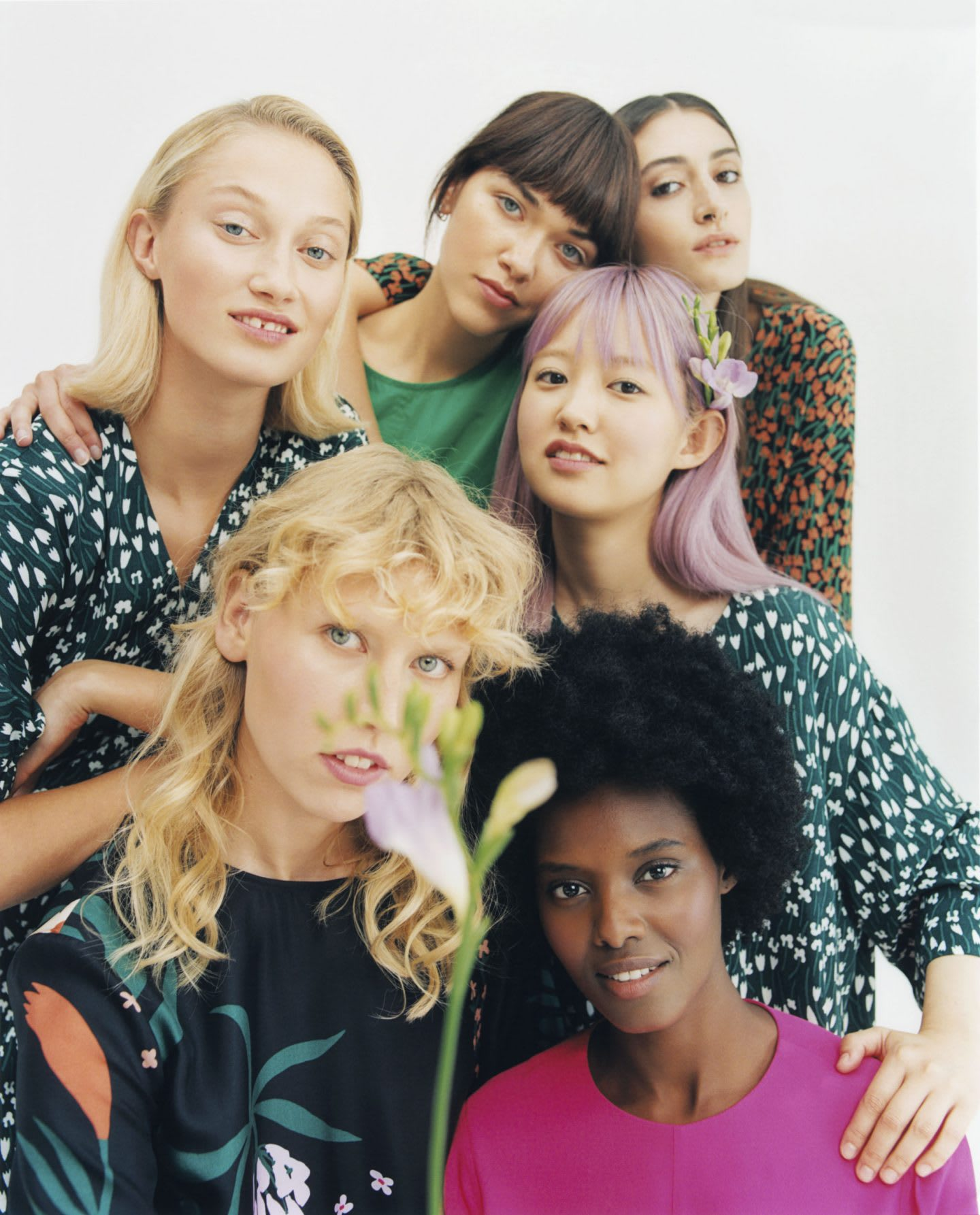 Shooting with Marimekko's floral designs and diverse set of models. Marimekko, finish design,
