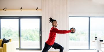 Young active man exercising indoors, workout, sportsperson, healthy, fitness, training, GamePlan A
