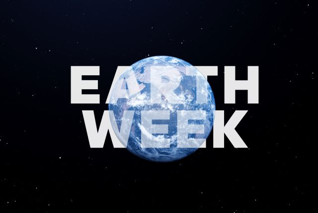 Planet Earth and the copy Earth Week on the picture. Earth Day, sustainability, challenge, habits, adidas, GamePlan A