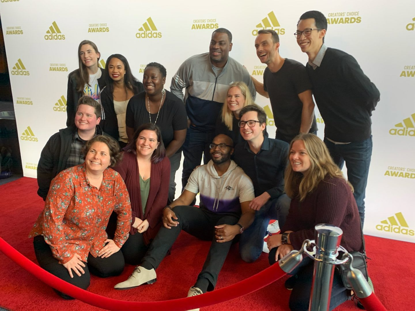Group of adidas employees during the creators choice awards. Diversity in terms, inlcusion, GamePlanA