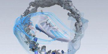 Football boot graphic in a circular design, football, sustainability, adidas, circularity