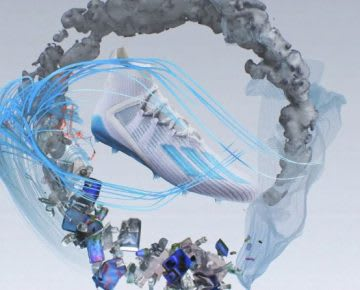 Football boot graphic in a circular design, football, sustainability, adidas, circularity