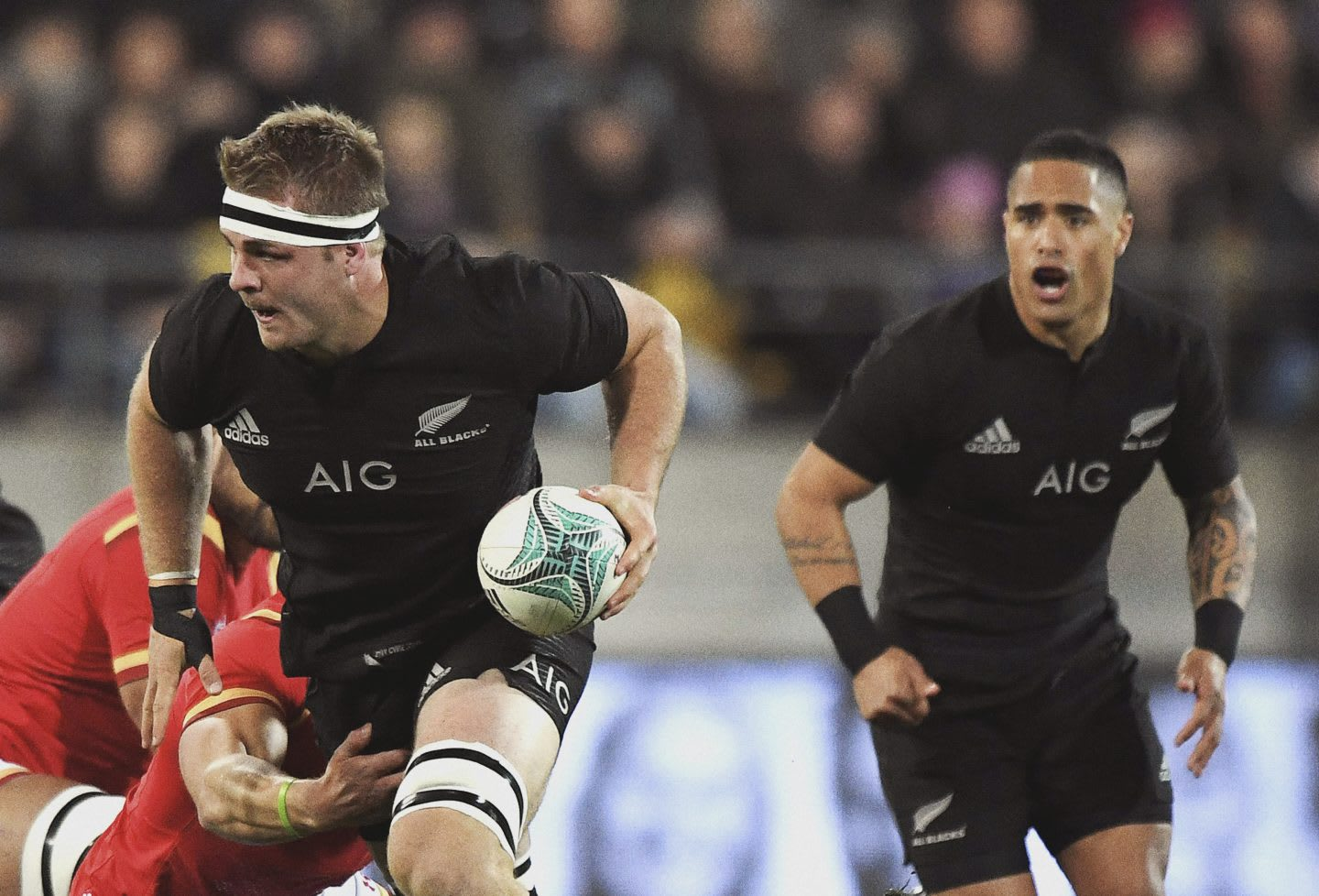 Sam Cane. New Zealand All Blacks v Wales. Rugby Union. 2nd test of the 3 test match Steinlager series. Westpac Stadium, Wellington. 18 June 2016. Ready for Sport, adidas athlete, GamePlanA