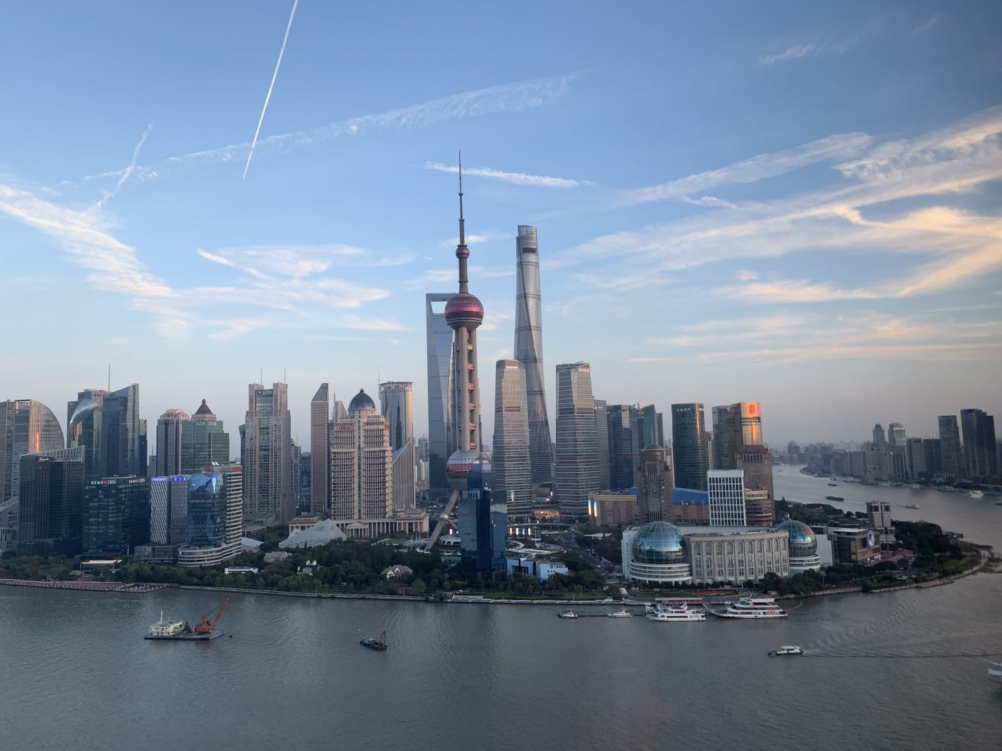 This picture shows the city skyline of Shanghai. adidas, global, career moves, career change, GamePlanA.