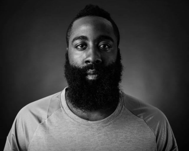 Portrait of basketball professional James Harden, NBA, adidas, GamePlan A