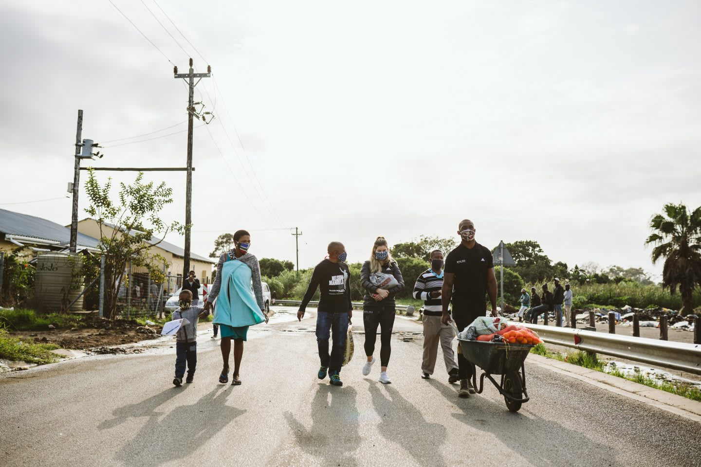 Volunteers from the Kolisi Foundation bring supplies to communities in South Africa during coronavirus pandemic, donation, volunteering, Kolisi Foundation, South Africa
