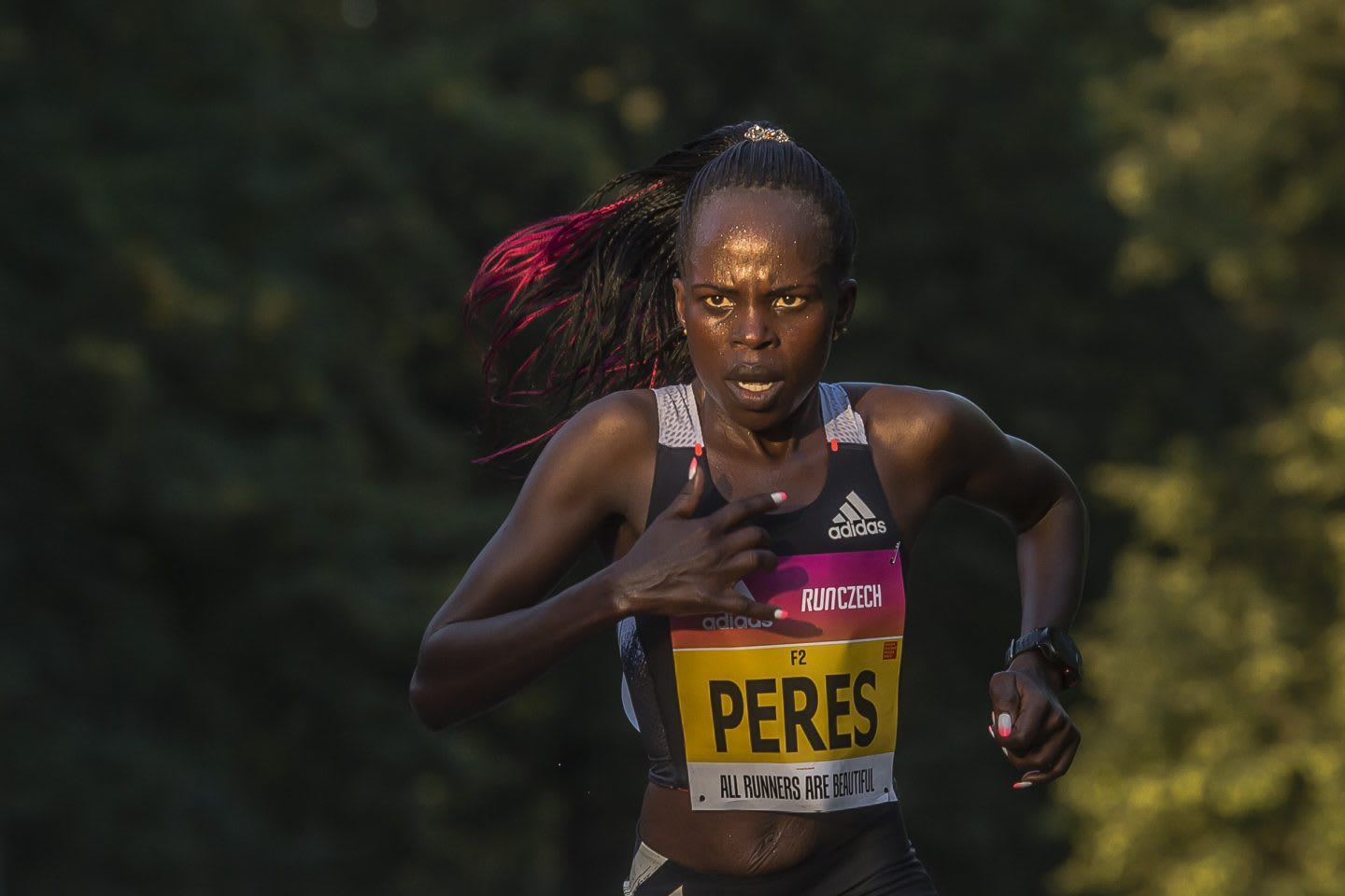 Kenyan long-distance runner Peres Jepchirchir running at the Prague half marathon in September, adidas, athlete, runner, sports