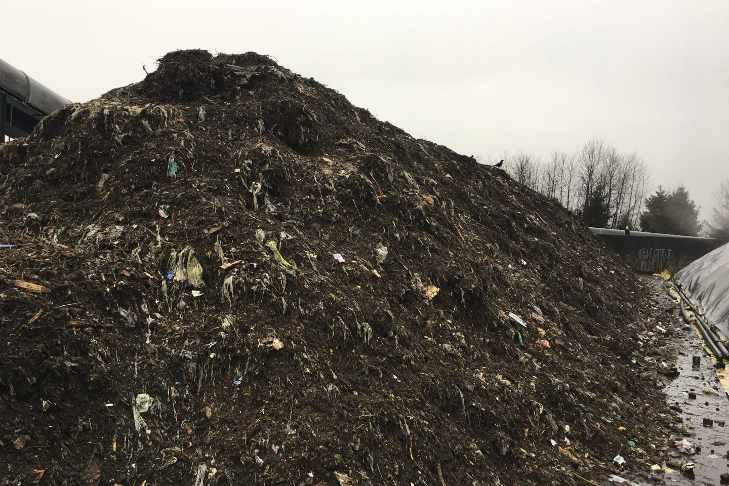 Pile of compost and dirt at a farm, compost, dirt, organic