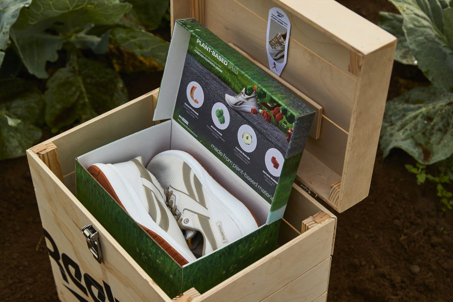 Reebok Floatride Forever GROW sustainable shoes in a box in farm, plant-based, shoes, performance, running