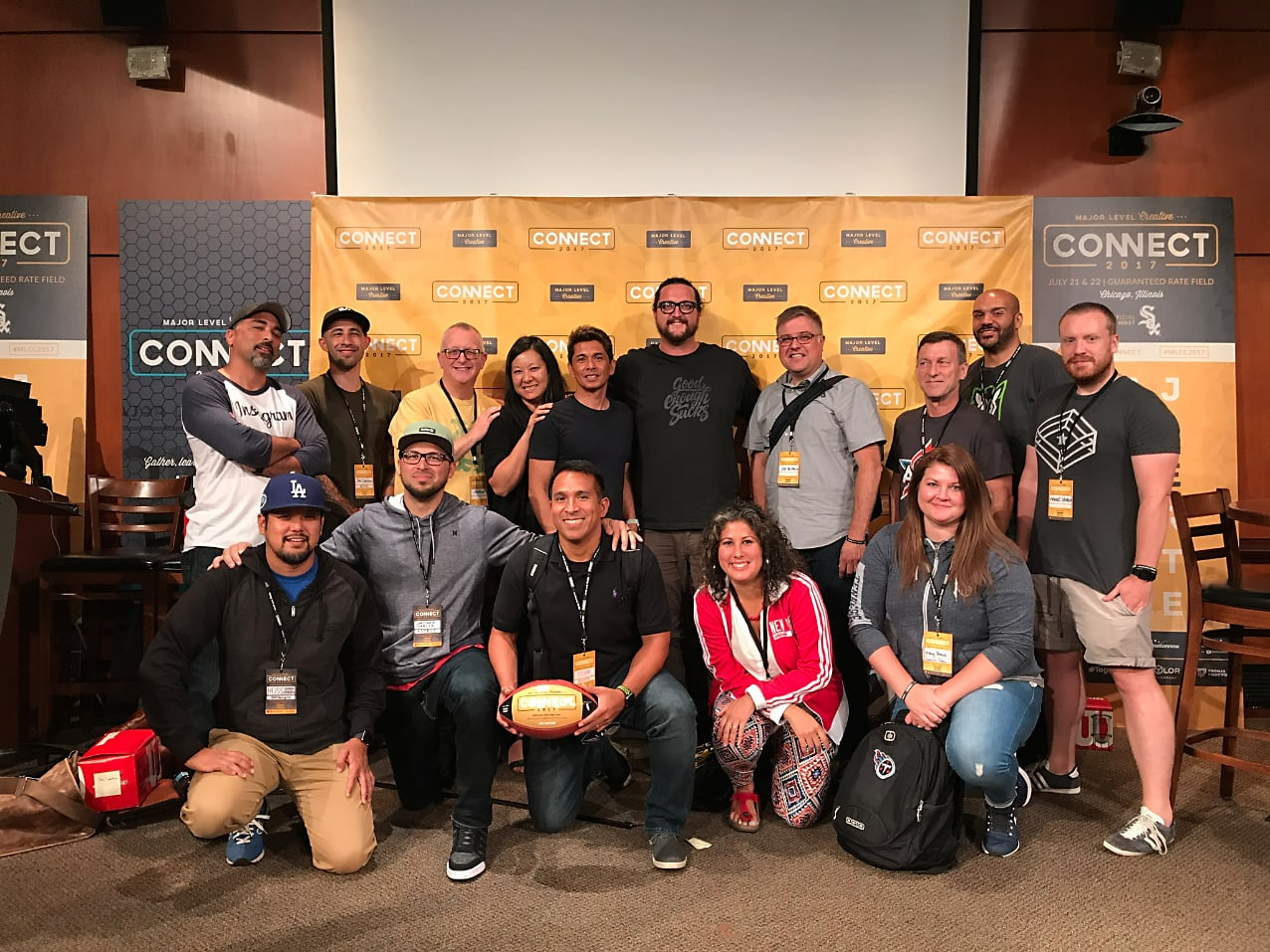 Group of people posing for a picture at an event, Adam Martin, guests, podcast, meeting, Makers of Sport