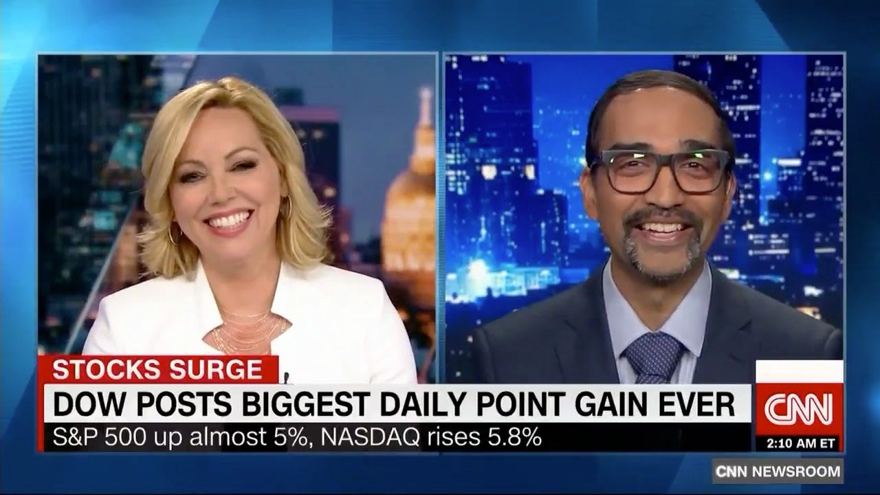 Man and woman on a news show during interview, Ryan Patel, CNN, interview, business, expert, news