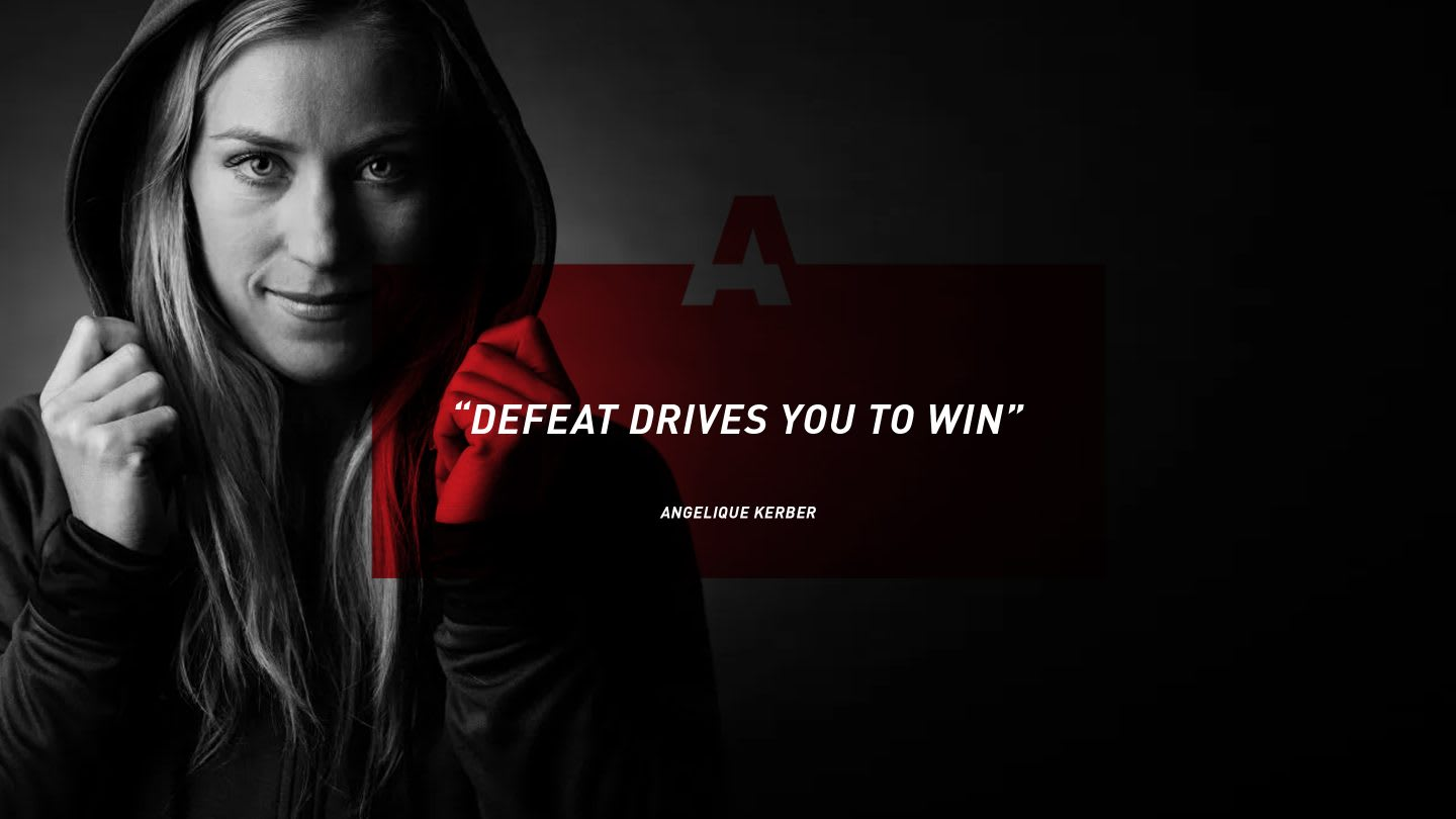 Quote from female tennis player Angelique Kerber on GamePlan A, motivation, success, happiness