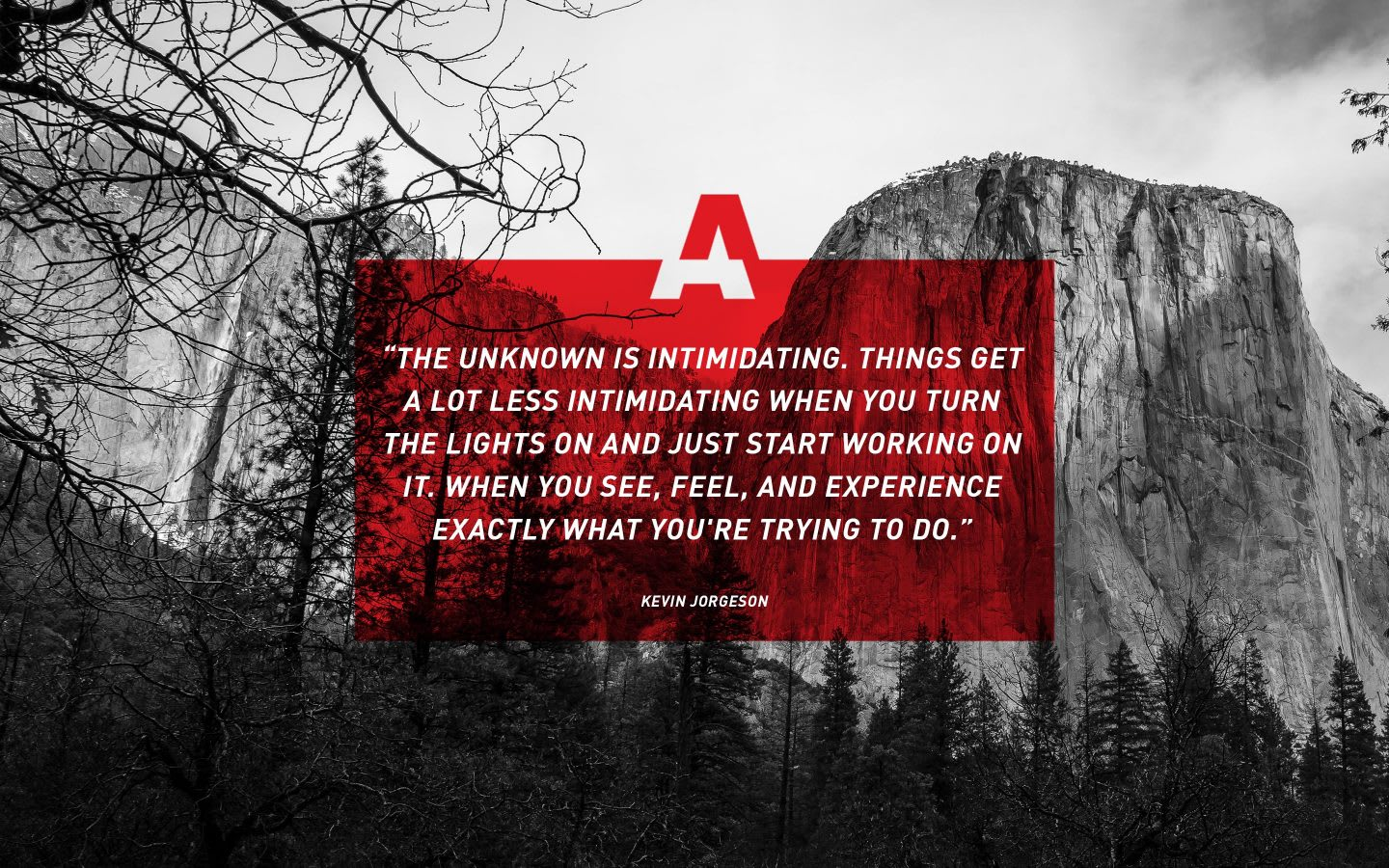 adidas free-climber Kevin Jorgeson quote, adidas, athlete, inspiration, motivation, GamePlan A