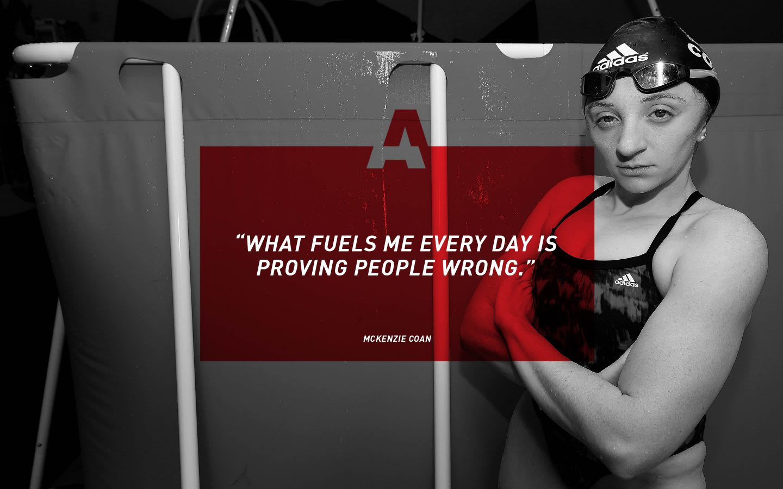 adidas Paralympian swimmer McKenzie Coan quote, athlete, adidas, motivation, GamePlan A