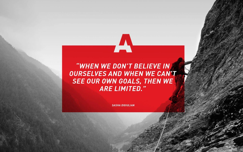 adidas climber Sasha DiGuilian quote, inspiration, motivation, GamePlan A
