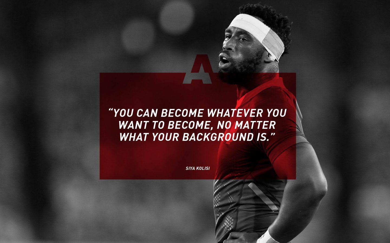 adidas rugby player Siya Kolisi quote, inspiration, motivation, GamePlan A