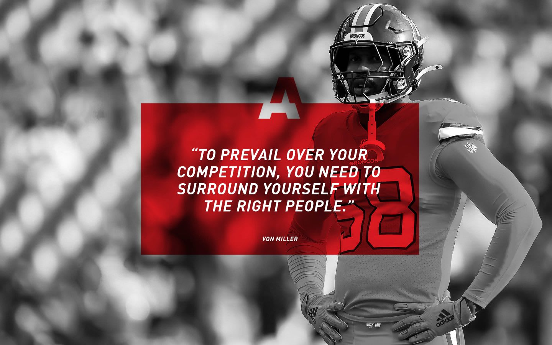 adidas American football player Von Miller quote, athlete, adidas, inspiration, motivation, GamePlan A