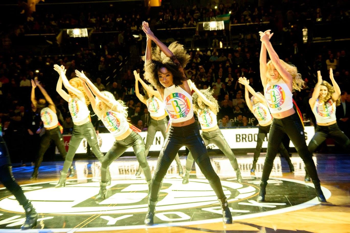 Athlete Ally representatives dancing at the NBA Brooklyn Nets game, inclusion, diversity, LGBTQ, sports, basketball