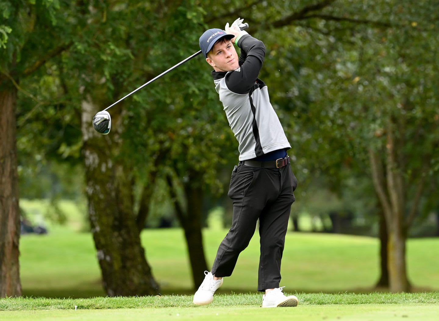 Brendan Lawlor of Ireland in action during a practice round prior to the ISPS HANDA UK Championship at The Belfry on August 26, England, disability, golfer, gold, competition, adidas, athlete
