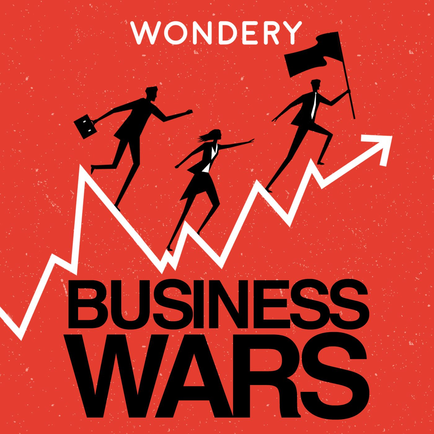 The logo of the podcast Business Wars. Business Podcasts, GamePlan A, adidas