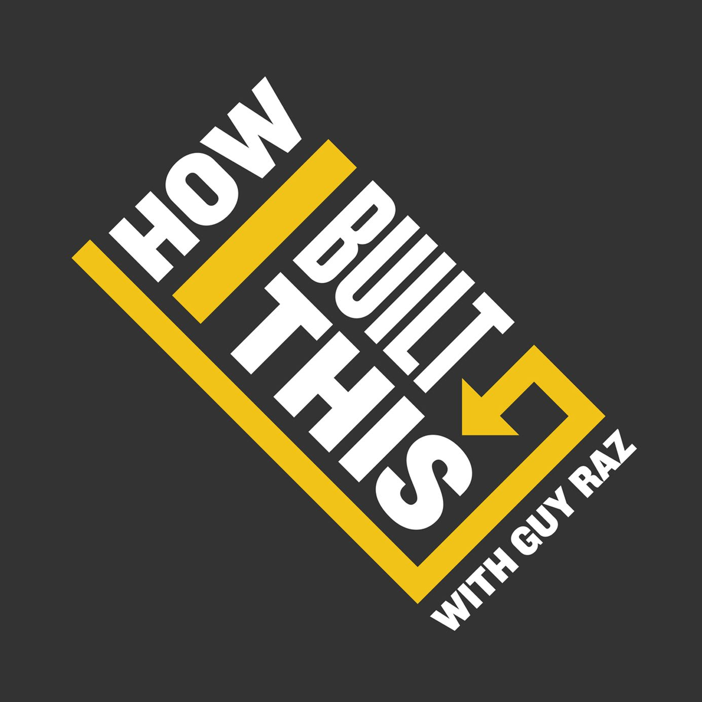 The logo of the podcast show How I built this with guy Raz. Business Podcasts, GamePlan A, adidas