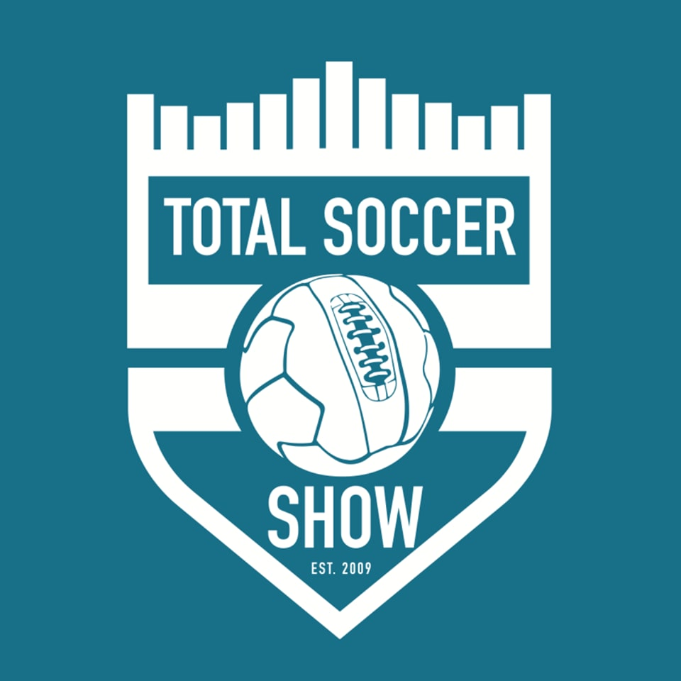 The logo of the podcast Total Soccer Show. Business Podcasts, adidas, GamePlan A