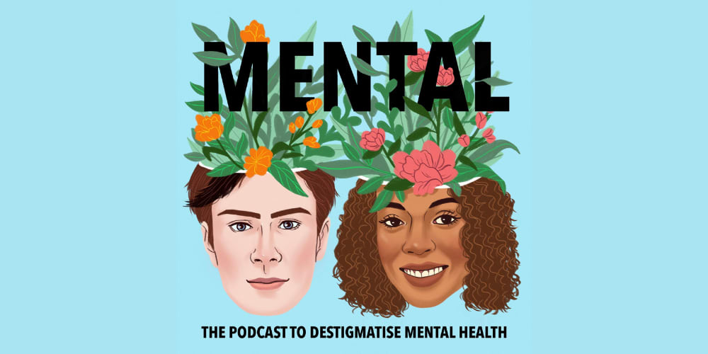 The logo of the podcast Mental. mental health, podcast, health, lifestyle, adidas, GamePlan A