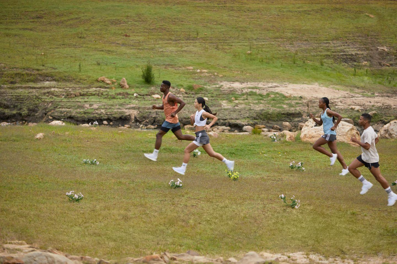 Running group runs in nature with futurecraft.footprint shoes, nature, running, adidas, allbirds, GamePlanA