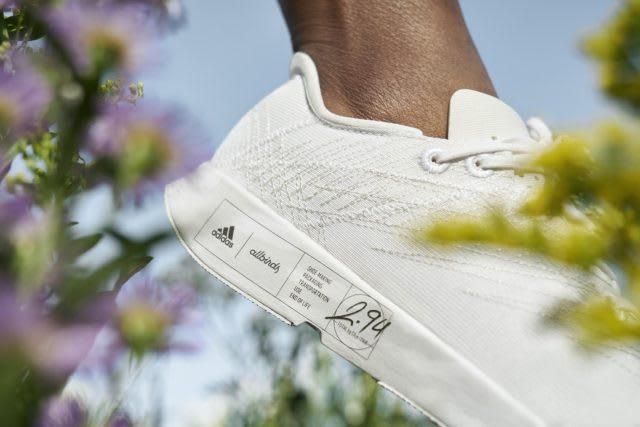 Futurecraft.footprint shown next flowers, adidas. allbirds,
