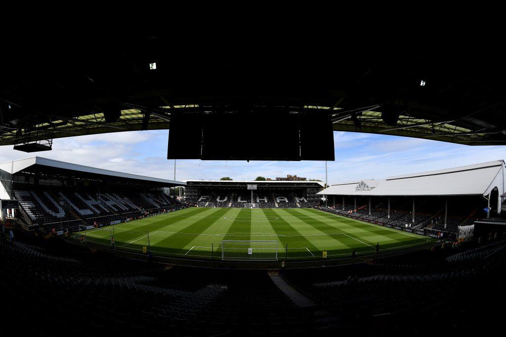 Full sight of the Fullham FC stadium. soccer, football, stadium, fullham fc, inclusion, equality