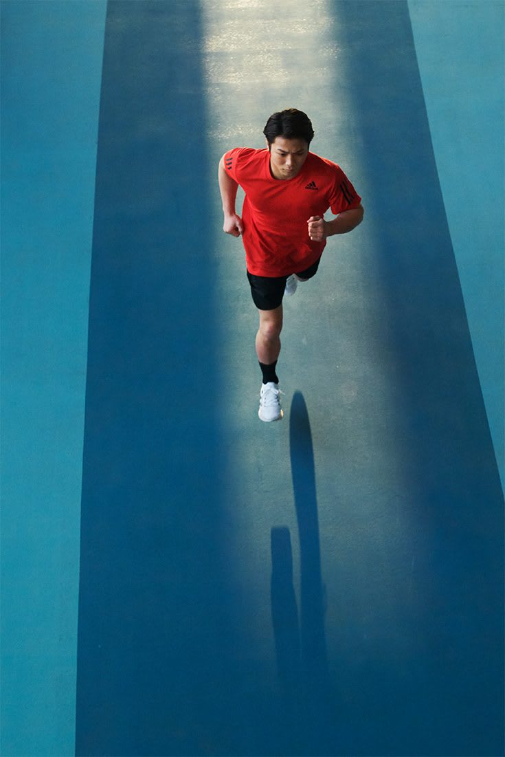 adidas model runs through Olympics zone. Project planning, Olympics, adidas, running