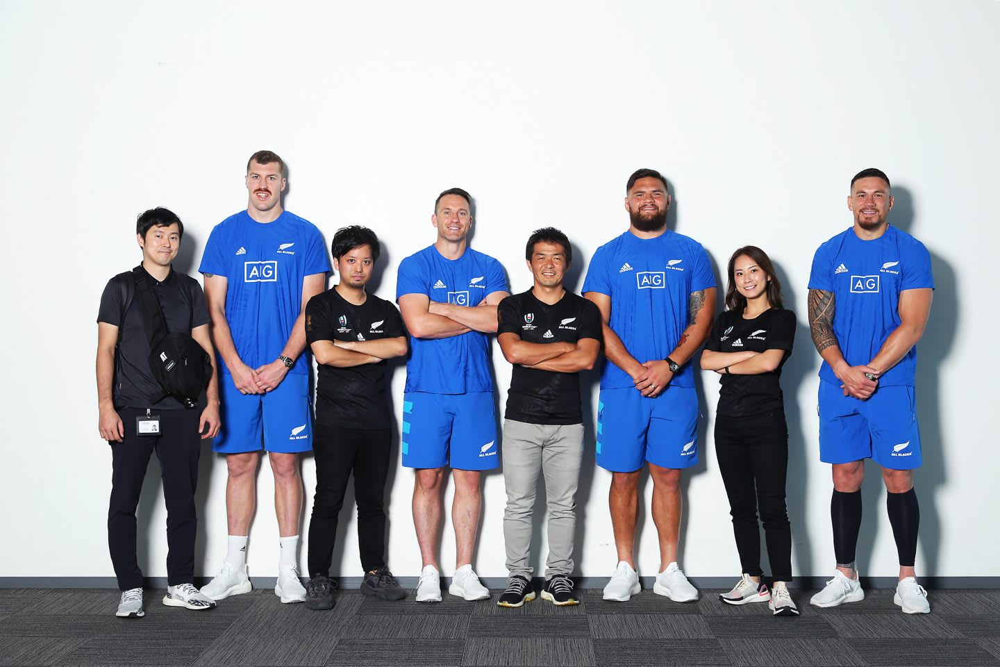 Ando with his team and the rugby national team. Project planning, adidas, Olympics, Tokyo