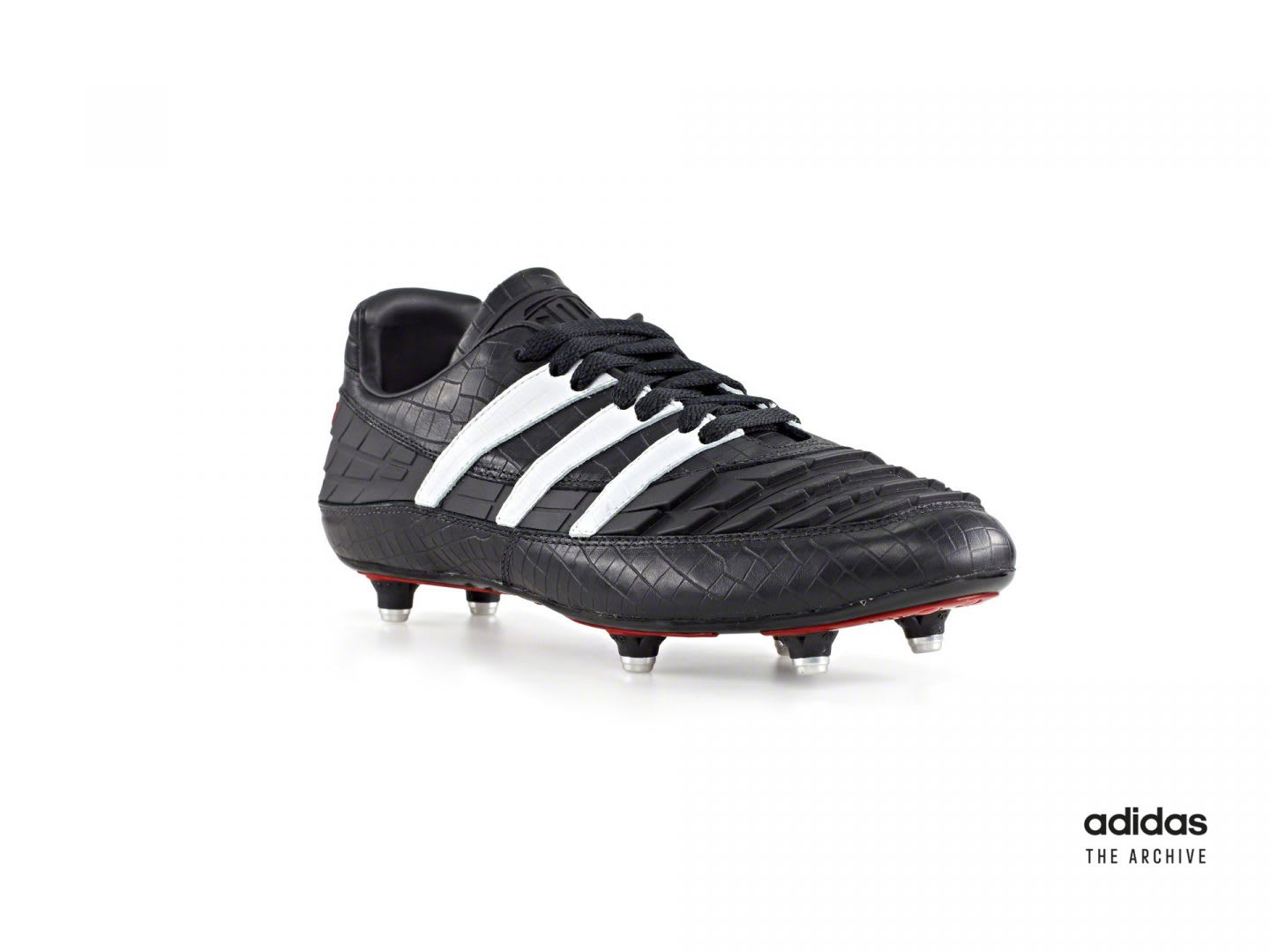 Black and white football boot, cleats, adidas, sports, soccer, history, product