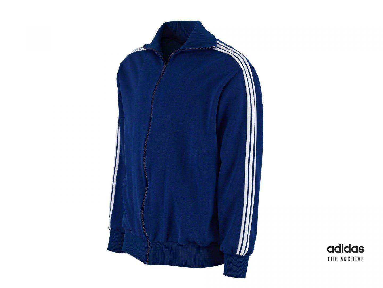 Blue adidas tracksuit jacket, adidas, archive, sports, lifestyle, tracksuit, Beckenbauer
