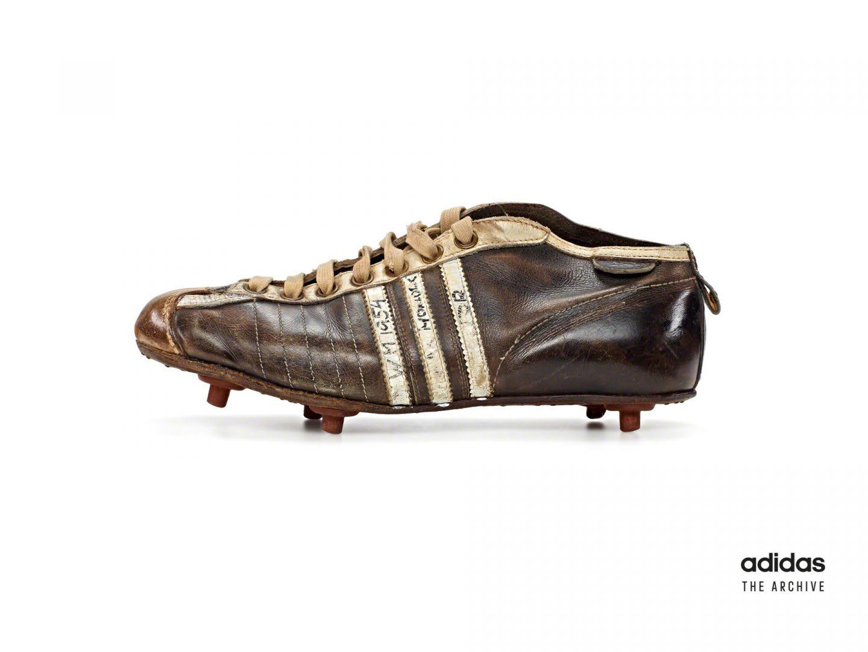 Old football boot, adidas, archive, football, soccer, Max, Morlock, sports, history